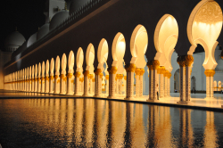 Sonnenuntergang in der Großen Moschee