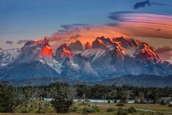 Gipfelglühen am Torres del Paine