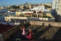 Flamenco auf der Terasse