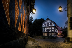 Den gamle by om natten