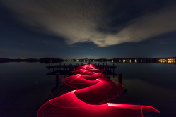 Lightpainting am See