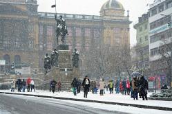 Sníh u Václava