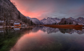 Sonnenaufgang am Almsee