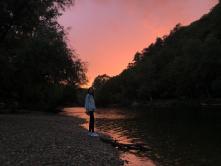 Kolpa river in sunset