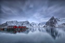 Die roten Hütten