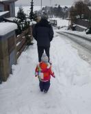 procházka s dědou