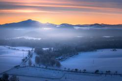 Mrazivé ráno v Českém Švýcarsku