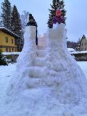 Hrad ze sněhu