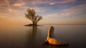 Island at the lake