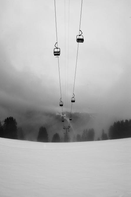 Skilift außer Betrieb
