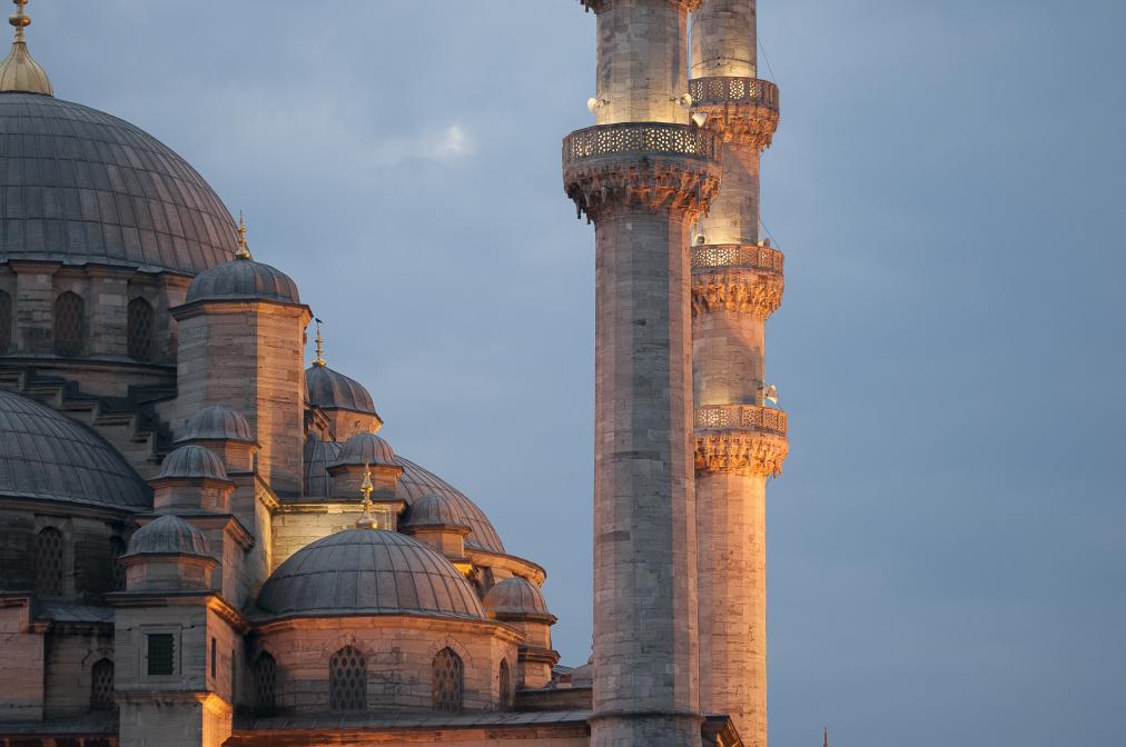 Minarett und Kuppeln