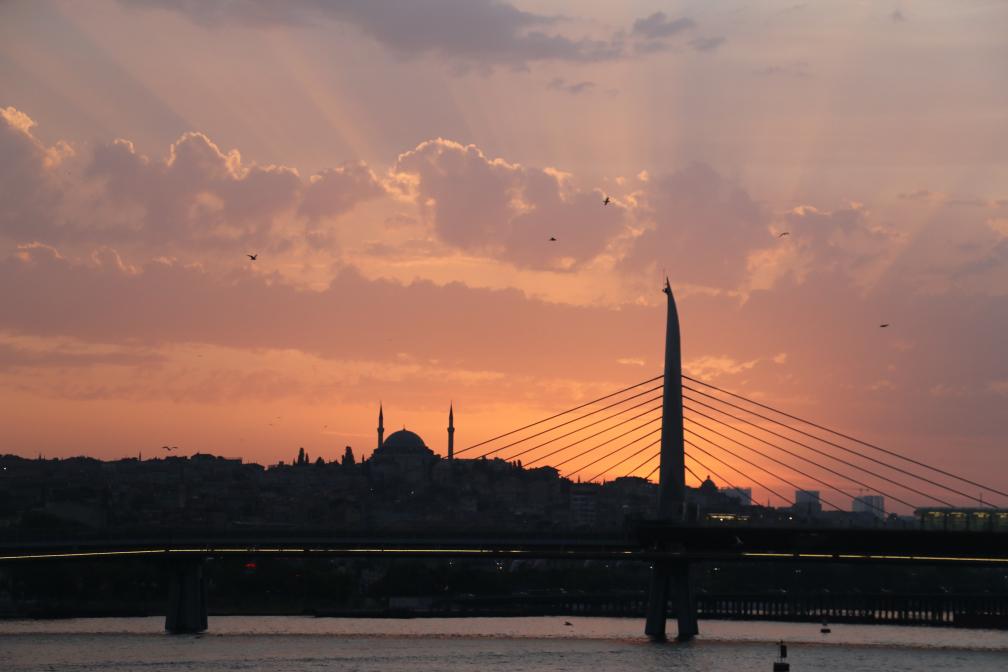 Sonnenuntergang in Konstantinopel