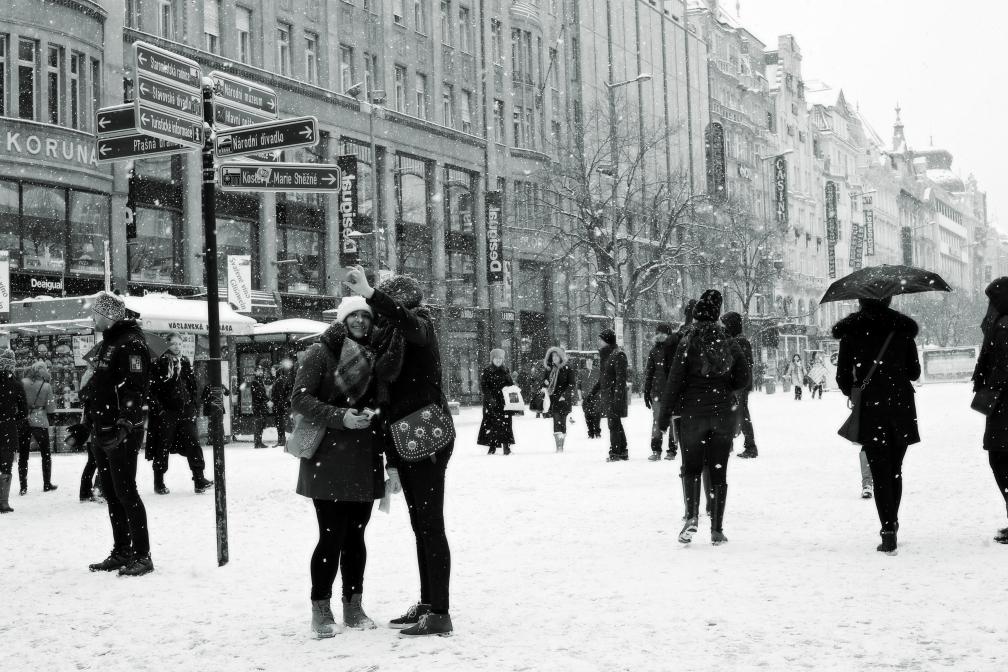 Sněží...