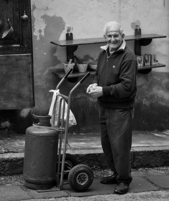 Happy old man in Amalfi