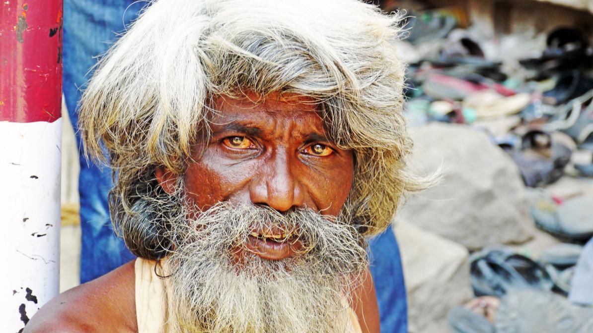 Bettler in Indien