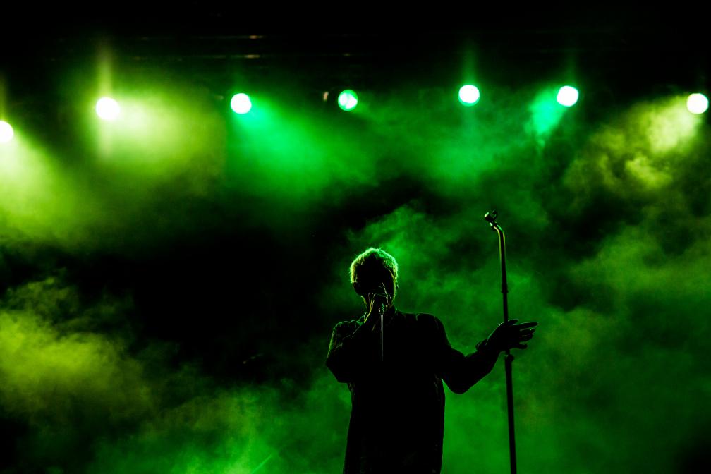 Silhouette in grün...