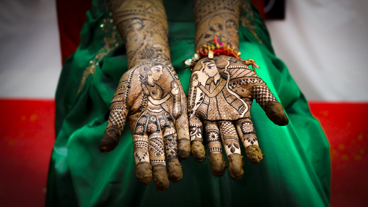 Man and wife !! Henna style