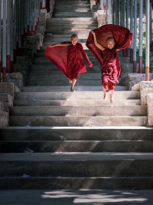 Little Monks Having Fun