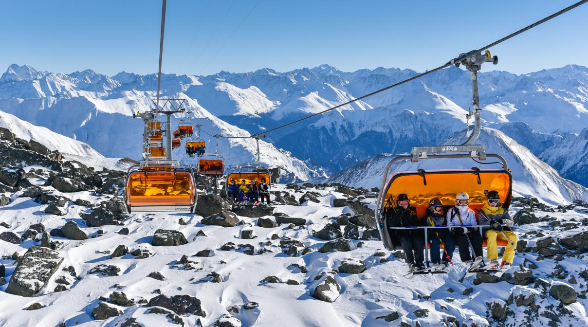 Skilift i Østrig