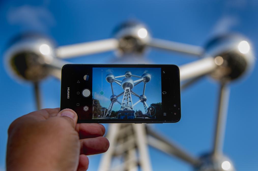 atonium op smartphone