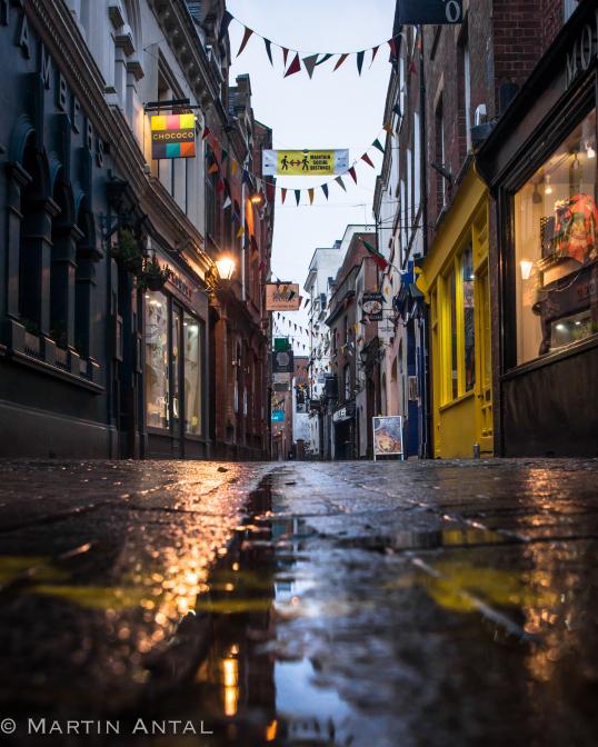 Back street in the rain