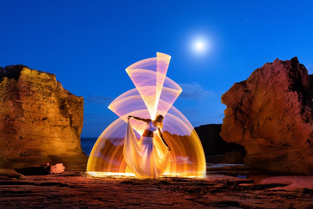Light Painting in Sardinia
